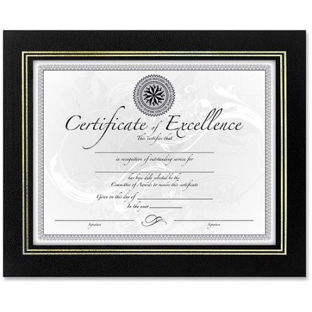 Wholesale CASE of 20 - Burns Grp. Leatherette Frames-Leatherette Certificate Frame, 11