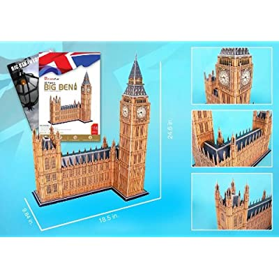 Big Ben 3D Puzzle with Book 117 Pieces: Toys & Games
