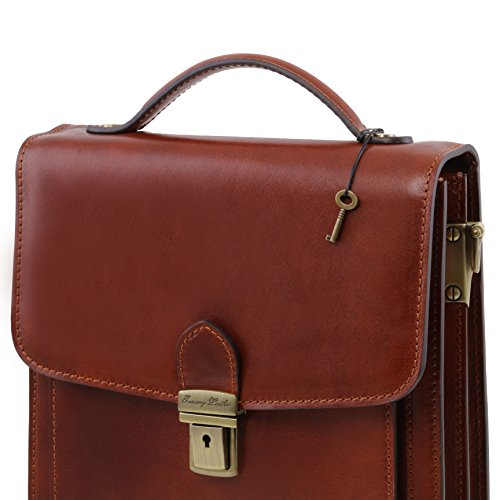 Tuscany Leather David Leather Crossbody Bag - large size Brown by Tuscany Leather (Image #6)