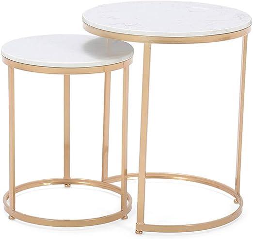 GSH- Side table Mesa Auxiliar Moderna Mesas Redondas para Sala de ...