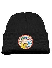 Caillou Cartoon TV Play Warm Winter Hat Knit Beanie Skull Cap Cuff Beanie Hat Winter Hats Girls