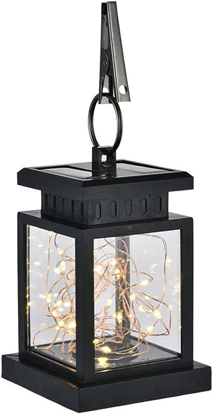 Sukisuki 2019 - Farol Solar LED para jardín, lámpara Colgante para Exteriores, Resistente al Agua: Amazon.es: Jardín