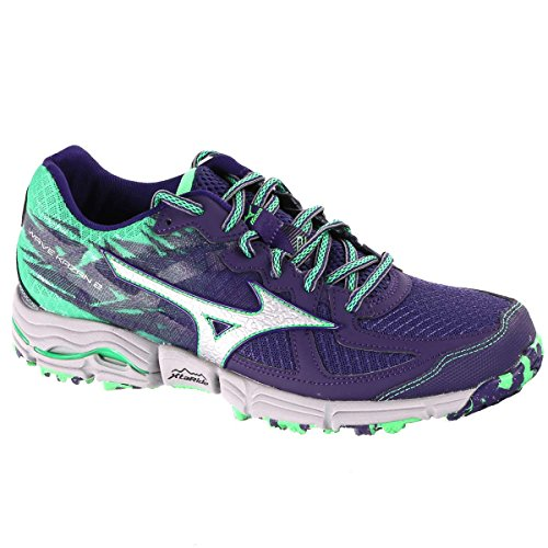Mizuno Wave Kazan 2 Women's Trail Running Shoes Green and Purple uzpxgxp