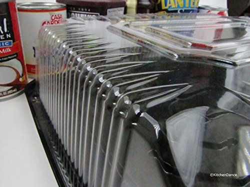 Plastic 1/4 Sheet cake Display/Carrier by D & W Finepack (25, 1/4 sheet cake low dome)G83