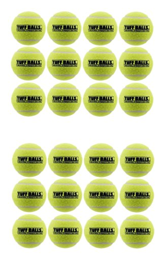 24 Pack of Petsport USA Tuff Balls Industrial Strength Dog Toys, Standard Size 2.5