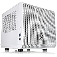 Adamant Custom Compact Size Mini ITX Liquid Cooled Gaming Desktop Computer Intel Core i7 8700K 3.7Ghz 16Gb DDR4 5TB HDD 500Gb NVMe SSD Dual GbE LAN Dual Band WiFi Bluetooth Nvidia Geforce GTX 1080 8Gb
