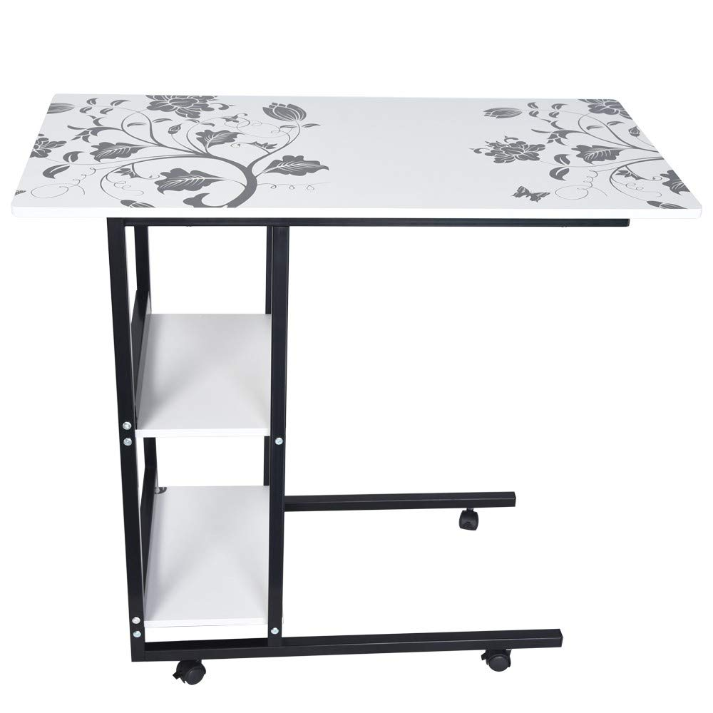 Chenway Home Computer Desk,Folding Lazy Bedside Desk Laptop Table for Home Notebook Desk 31.5 x 15.8 x 29.6 inches [Ship from USA Directly]