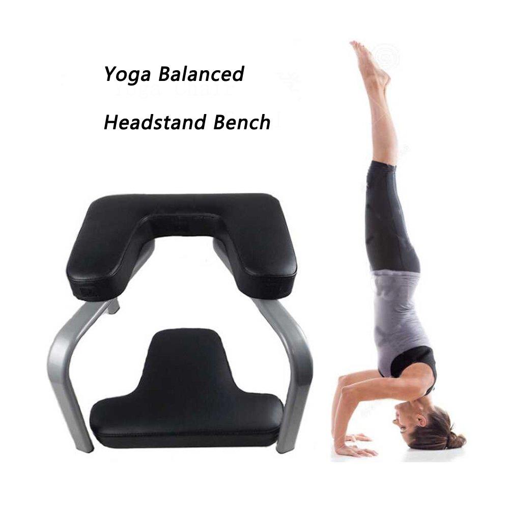 Taisheng Yoga Balanced Headstand Bench Inversion Balanced Fitness Equipment(Black)