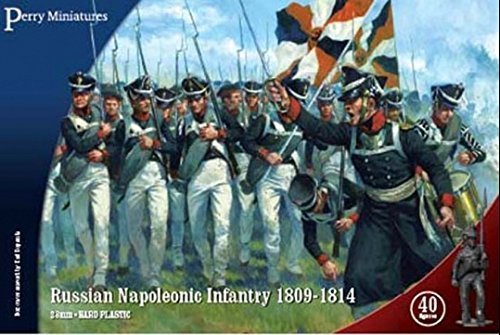 Perry Miniatures RN20 Russian Napoleonic Infantry 28mm Hard Plastic Figures x40 by Perry Miniatures ()