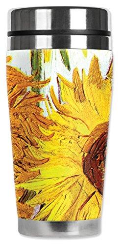 """Mugzie 336-MAX """"Van Gogh: Sunflowers"""" Stainless Steel Travel"""
