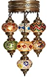(Choose from 35 Designs) Turkish Moroccan Mosaic Glass Chandelier Lights Hanging Ceiling Lamps For Sale