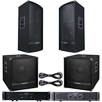 sound town professional pa system with 15 full range pa speakers 18 subwoofers. Black Bedroom Furniture Sets. Home Design Ideas