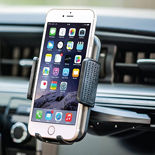 Bestrix Universal CD Slot Phone Holder for Car Ideal for iPhone X, 8, 7, 6, 6S Plus. 5S, 5C, 5, Samsung Galaxy S5, S6, S7, S8, Edge/Plus Note 4,5,8, LG G4, G5, G6, V30 All Smartphones up to 6""