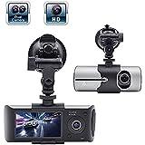 Accfly 2.7 HD Dash Cam Car Camcorder DVR Video Recorder Dash-Cam Dual Camera Front Driving Recorder Car DVR GPS Logger G-Sensor (dash cam)