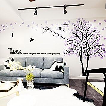 LiTie Acryl Spiegel 3d Stereo Wand Kunstliebhaber Baum Modernes Schlafzimmer  Esszimmer Wohnzimmer TV Hintergrund Wandschmuck,