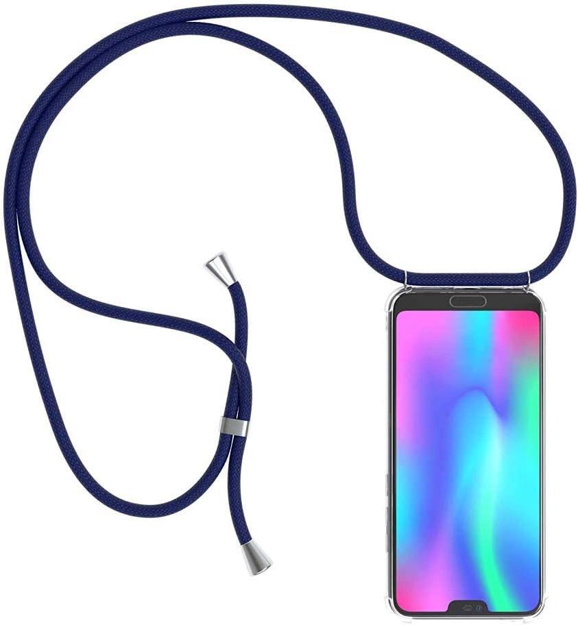 con Cordon para Llevar en el Cuello Azul Oscuro Funda para Huawei Mate 30 Pro Case con Correa Colgante//TPU Necklace con Banda MXKOCO Carcasa de movil con Cuerda para Colgar Huawei Mate 30 Pro