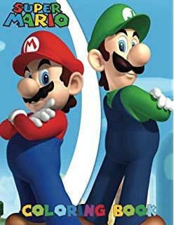 super mario coloring book for kids and adults 40 illustrations - Mario Coloring Book