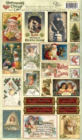 Crafty Secrets Heartwarming Vintage Cuts 7-Inch by 12-Inch Sheet, Christmas Time