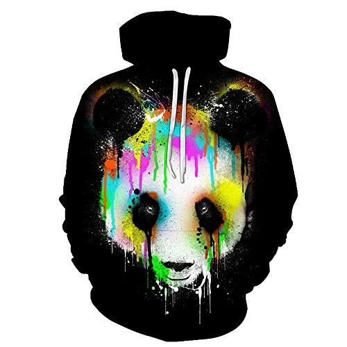 Owence New 3d Digital Print Athletic Sweaters Panda Hoodie Hooded Sweatshirts-DX107-L -