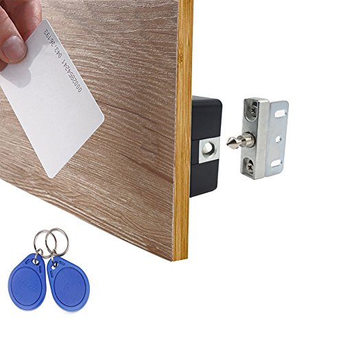 WOOCH Electronic Cabinet Lock Kit Set, Hidden DIY Lock for Cabinet Drawer Locker, RFID Card / Tag / Wristband Entry Drawers Storage Cabinet Locks