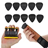 Portable 4 Fret Pocket Guitar Practice Chord Trainer (Right Hand)+ Wrist Finger Exerciser Training Tools Kit