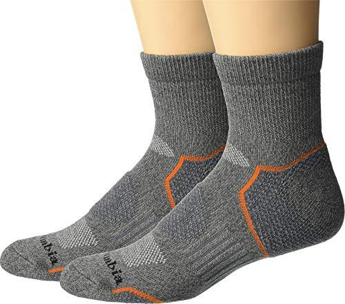 Columbia Men's Balance Point¿ Walking - Quarter 2-Pack Charcoal 10-13 (Shoe Size 6-12 US Men's)