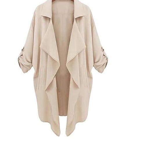 ropa de mujer otoño invierno abrigo chaqueta,RETUROM Chaqueta larga ocasional de la chaqueta del Win...