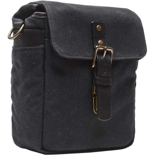 Bond Street Waxed Canvas Camera Bag (Black) [並行輸入品] B07MMJDHT1
