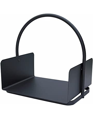 JVL – Conway Moderno Accesorio para Chimenea carbón diseño de Tronco, Acero, Negro,