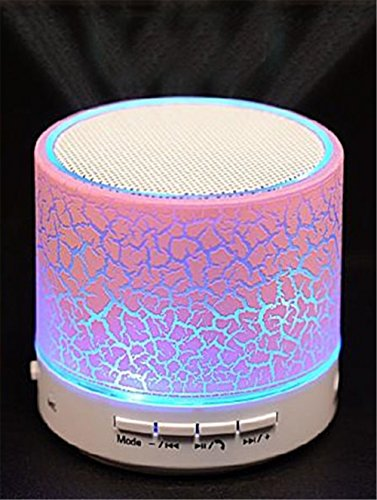 Wireless Bluetooth Speaker Night Light Pink