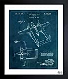 vintage airplane blueprint - Airplane 1944' Vintage Framed Wall Art Print for Home decor & Office. The Airplanes Wall Decor Blueprint Collection by The Oliver Gal Artist Co. 15x18 inch