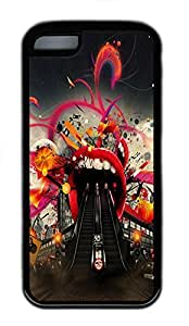 for iphone 4/4s Case Abstract Escalator TPU Custom for iphone 4/4s Case Cover Black