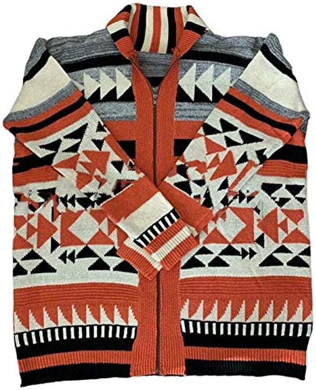 litty089 Mantel, Herbst Winter Männer Langarm Cardigan Jacquard Weave Sweater Oberbekleidung Mantel rot XL: Odzież