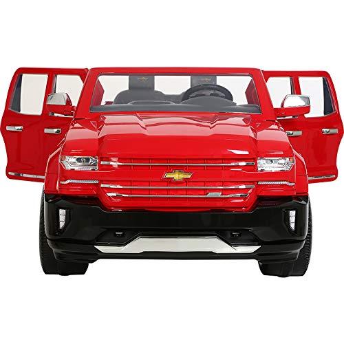 51QDzuaHhpL - Rollplay 12 Volt Chevy Silverado Truck Ride On Toy, Battery-Powered Kid's Ride On Car - Red