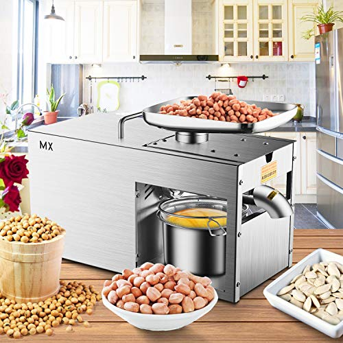 Rbaysale 1160W Commercial Oil Press Machine Hot Cold Automatic Physical Pressing Oil Expeller Electric Extractor for Home Avocado Coconut Olive Flax Peanut Castor Hemp Seed Canola Sesame Sunflower by Rbaysale (Image #1)