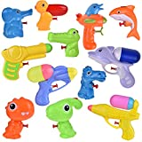 12 Pack Assorted Water Squirters Toys, Summer Water Soaker Blaster Fight Toys for Kids, Watergun Swimming Pool Bath Toy Party Favors