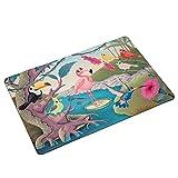 BINGOLIN Bedroom Rug Funny Tropical Birds Flamingo Door Mat Carpet Outdoor Doormat Door Anti Slip Kitchen Decor Rug Mat 16x24 inch