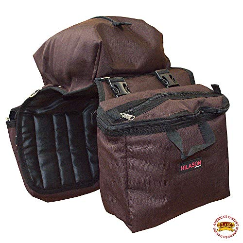 HILASON 14X12X6 Detachable Insulated Horse Saddle Side Bag Brown