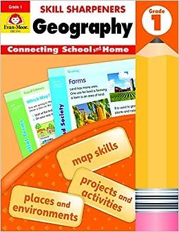 Evan-Moor Skill Sharpeners: Geography, Grade 1 Activity Book