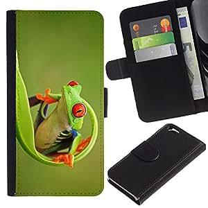 Apple (4.7 inches!!!) iPhone 6 Modelo colorido cuero carpeta tirón caso cubierta piel Holster Funda protección - Green Happy Nature Animal Jungle
