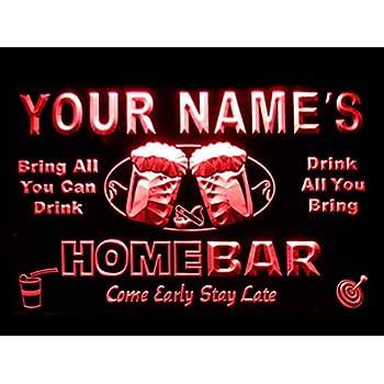 Amazon.com: Letrero luminoso Custom Home Bar Beer de ...