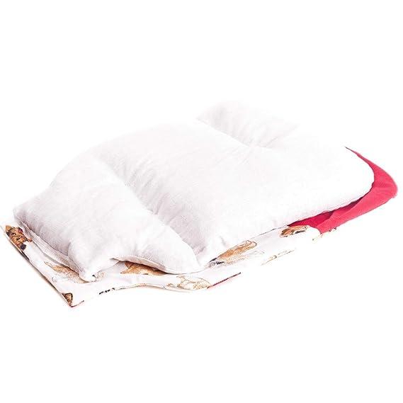 Saco térmico de semillas para microondas con forma de botella de agua caliente (32x22 cm) Hecho con tela de algodón 100% con funda lavable y fresco ...