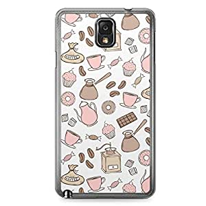 Pink Brown Samsung Galaxy Note 3 Transparent Edge Case - Bakery Collection