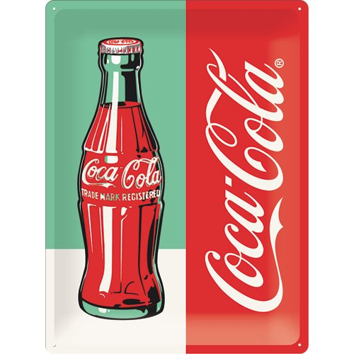 Nostalgic-Art 63324 Coca-Cola Bottle Pop Art, Cartel de ...