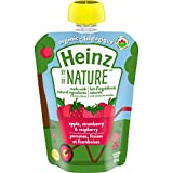Heinz by Nature Organic Baby Food - Apple, Strawberry & Raspberry Purée - 128mL Pouch (Pack of 6)
