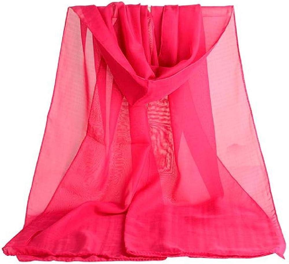 YEBIRAL Damen Chiffon Schal Ganzj/ährig Multifunktional Einfarbig Weich Deckenschal Halstuch