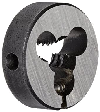 """Union Butterfield 2010(UNC) Carbon Steel Round Threading Die, Uncoated (Bright) Finish, 13/16"""" OD, 1/4""""-20 Thread Size"""
