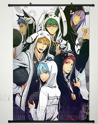 Home Decor Anime Kuroko no Basket Wall Scroll Poster Fabric Painting Kuroko Whole roles 126 S