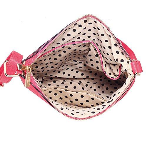 TrendStar - Bolso bandolera Mujer A-Fuchsie