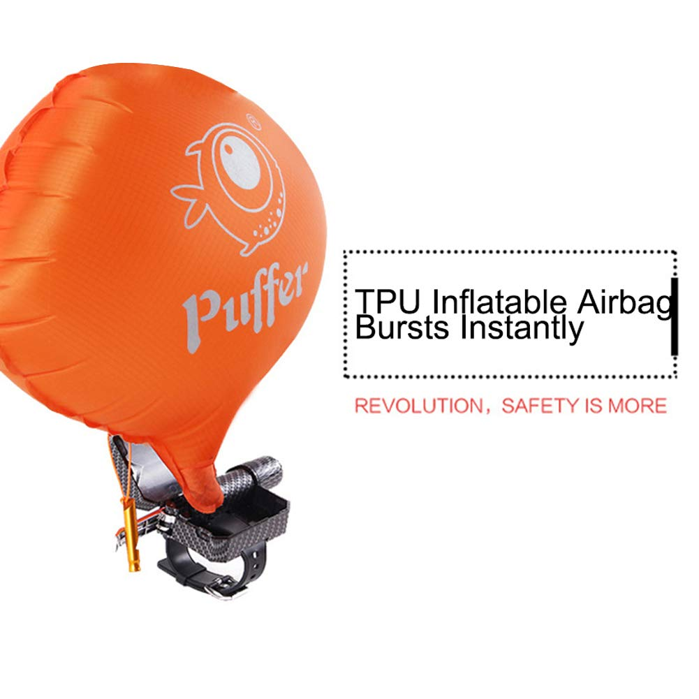 Mongrep Pulsera port/átil del Flotador de la Pulsera del Salvavidas con el Rescate Personal de la Resaca de la vejiga Inflable del Cilindro del CO2 al Aire Libre